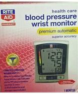BRAND NEW RITE AID BLOOD PRESSURE WRIST MONITOR BP3NU1-3ERITE PREMIUM AU... - $26.99