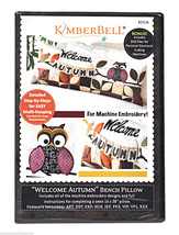 Kimberbell Machine Embroidery Welcome Autumn Bench Pillow CD - $33.07