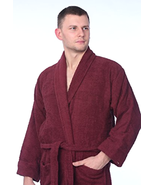Beverly Rock Men's 100% Cotton Shawl Collar Robe Terry Cloth Bathrobe Pl... - $48.99+