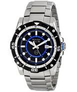 Bulova Men's 98B177 Marine Star Quartz Black and Blue Dial Stainless Steel Watch - $225.00