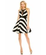 Salt Tree Women's Illusion Halter Neck Open Back Full Bell Knee Dress - $39.99