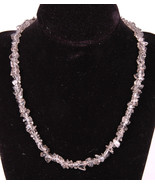 "Glass Beaded Necklace-17""-Smokey Gray-Clasp-Jewelry-Cool Funky Beach Gift - $26.17"