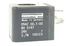 NASSMAGNET 0542-00.1-00 SOLENOID VALVE COIL BV-5147 24V 2,7W 100%ED