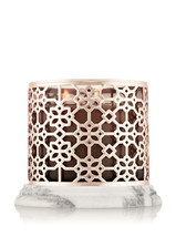 Bath & Body Works ROSE GOLD MARBLE 3-Wick Candle Sleeve - $88.00