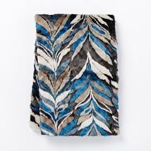"""$90 NWOT West Elm Faux Fur Herringbone Throw Multicolored 60"""" - $65.44"""