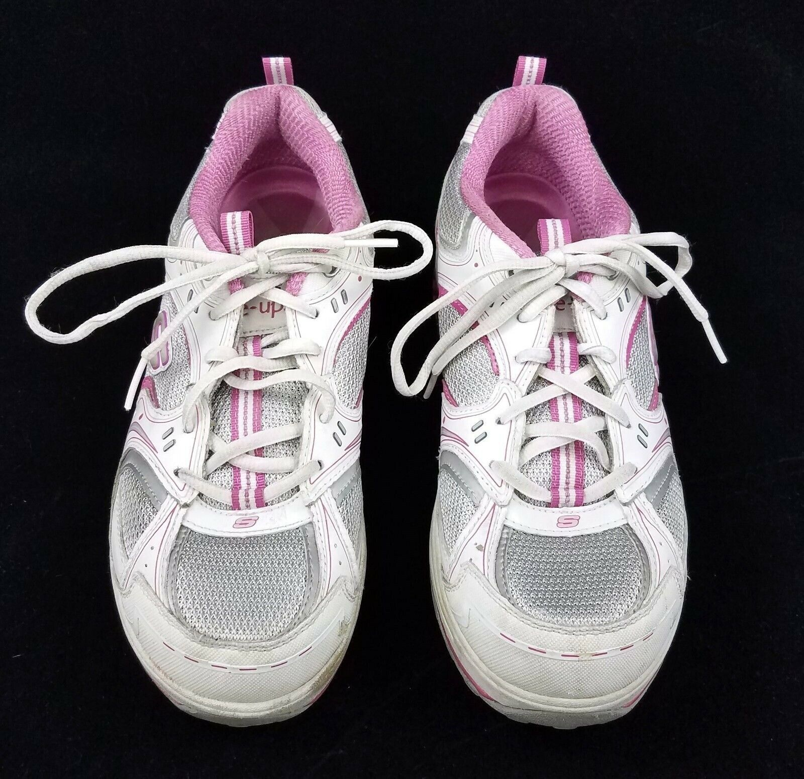 Skechers Shape Ups Pink Walking Toning Shoes Sneakers Womens 9 Breast Cancer
