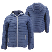 Men's Puffer Hooded Lightweight Zip Insulated Packable Quilted Jacket
