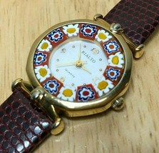 Vintage RIALTO MURRINA Lady Murano Art Glass Analog Quartz Watch Hour~Ne... - $17.09