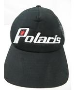 Polaris Black Trucker Mesh Snapback Adult Cap Hat - $12.86