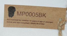 TPO Brand MP0005BK Hope Tan Cork  Black Canvas Zipper Travel Makeup Pouch Bag image 4