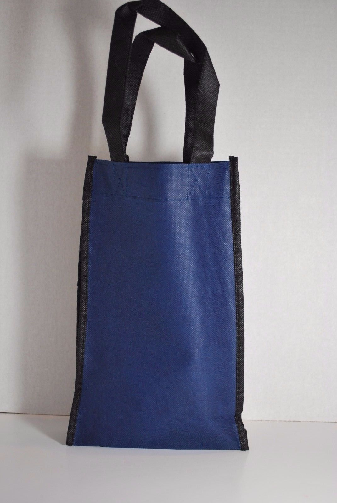 Set of 2 Blue Wine Tote Bags (Wine Bags by) Pearlbedding (each holds 2 Bottles)