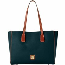 Dooney & Bourke Pebble Ashton Tote Black/Tan Trim One Size