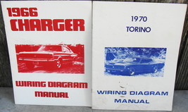 1966 Charger and 1970 Torino Wiring Diagram Manuals - $16.00