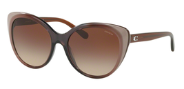 New Coach sunglasses HC8260F (L1072) 553413 55mm Taupe Laminate Brown Gr... - $89.09