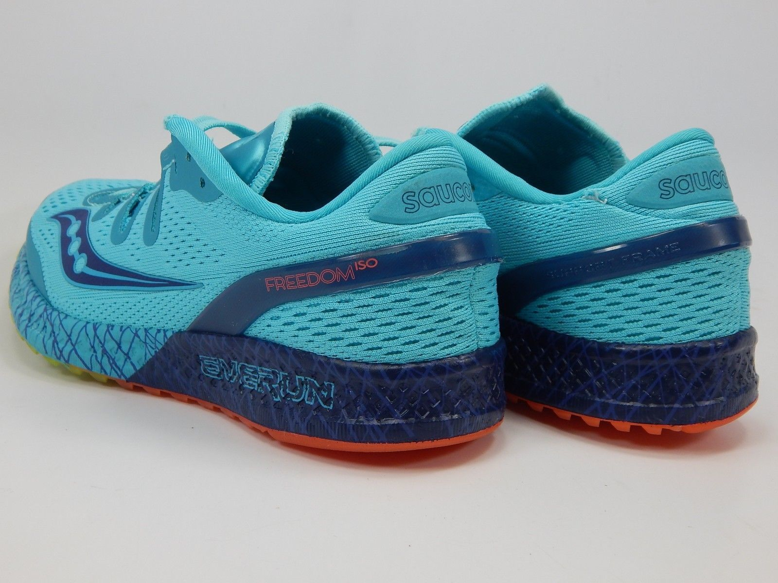 Saucony Freedom ISO Size 7.5 M (B) EU 38.5 Women's Running Shoes Blue S10355-3