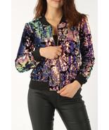 Ladies  Stunning Velvet Sequin Bomber Jacket UK Size 8-16 - $500.00