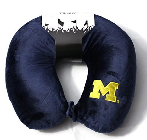 DarrellsWorld NCAA Travel Neck Pillow 12 x 13 x 4 inches (Michigan Wolverines)