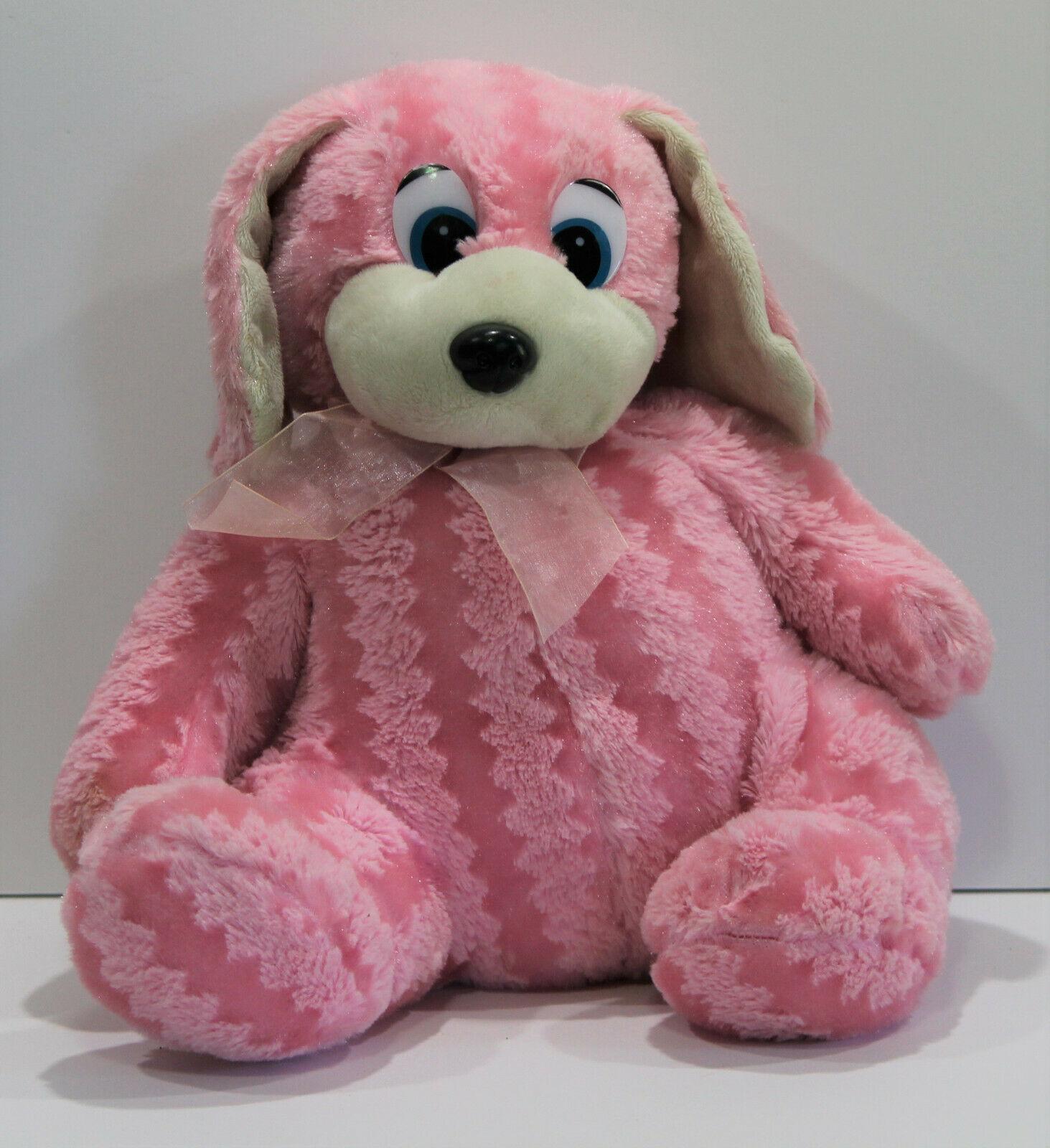 Kellytoy Kuddle Me Rabbit Bunny Big Eyes Pink Sparkle Vintage - $28.91