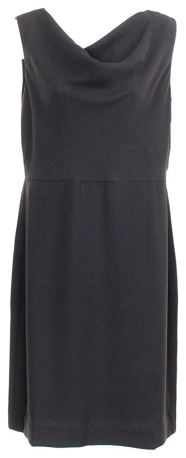 Primary image for J Crew Women's Cowl Neck Sheath Dress Everyday Crepe 365 Work 10 K2869 Black