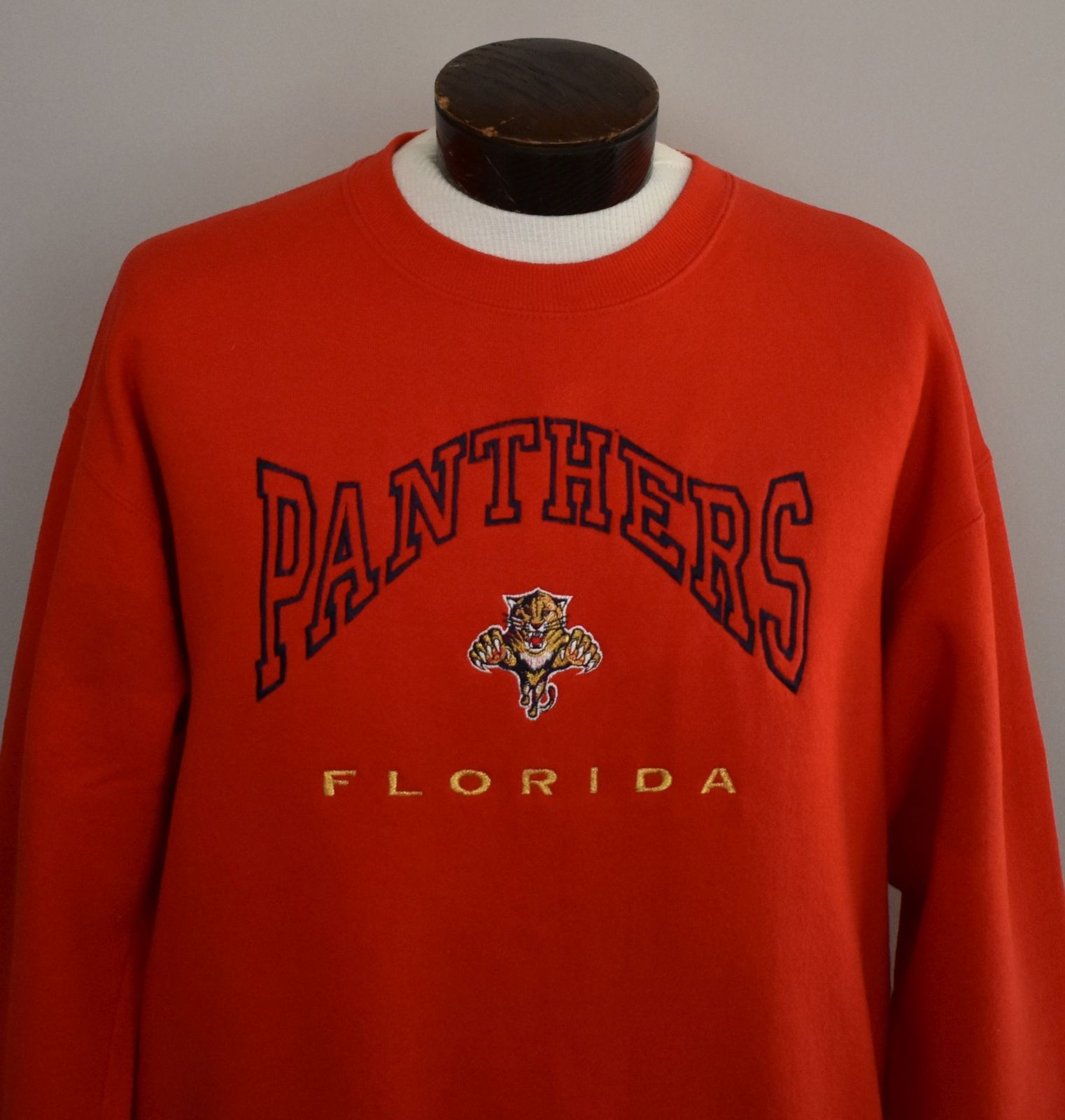 90s Florida Panthers Embroidered Crewneck Sweatshirt Size Hipster Large to XL image 2