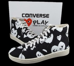 Converse x CDG Comme Des Garcons Play Hearts Pro Leather Black 140709C R... - $105.00
