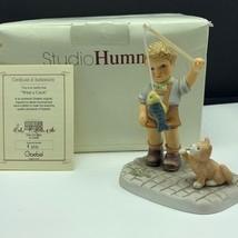 Goebel MJ Hummel club figurine germany box coa BH153 What a catch fishin... - $84.15