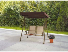 Mainstays Sand Dune 2-Seat Sling Canopy Porch Swing - $139.25