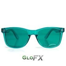 GloFX Aqua Color Therapy Glasses Calmness Relax Glasses Sunglasses Rave ... - $14.99