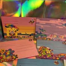 Vintage Lisa Frank 8Piece Envelope Lot Peekaboo Violet Racoons Ice Cream Dogs  image 3