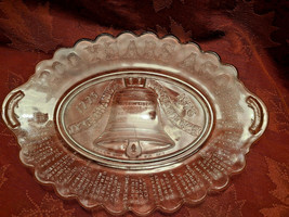 200 Years Ago Declaration Independence Pressed Glass Platter - Anchor Hocking image 1