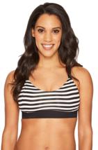 Brooks Hot Shot Size S Small Women's Sports Bra White Black Stripe 300632076.025