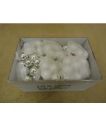 Designer Box of Balls Decorative 1in Diameter Shiny Silver Glass - $16.92