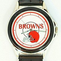 Cleveland Browns NFL Fossil Relic New Unworn Watch Silver Tone Blue Insert $75 - $74.10