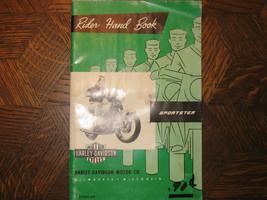 64 Harley Davidson Sportster Oem Original Rider Utilisateur Manuel Owner's - $75.96