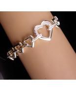 Gorgeous Heart Bracelet - silver heart charm - anniversary gift - sterli... - $85.00