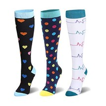 Compression Socks For Women & Men - 20-25mmHg - 1 to 4 Pairs Stockings f... - $21.42