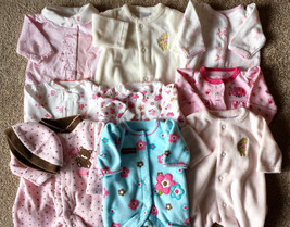 Girl's Size P Preemie One Piece Footed Pajama Carter's Etc Ur Pick Assor... - $7.50+