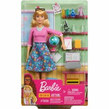 Barbie Teacher Career Doll You Can Be Anything Gift Set w/10 Accessories... - $23.75