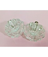 "2 FUN Lucite Drawer Pull Knobs Big Fat Melon Cut 2"" Across D5 - $12.38"