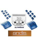 ANDIS 17 pc Guide ATTACHMENT COMB&ULTRAEDGE 30 BLADE Fit Many Oster,Wahl... - $91.34