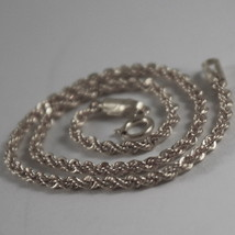 18K WHITE GOLD BRACELET, BRAID ROPE LINK, 7.30 INCHES LONG, MADE IN ITALY image 2