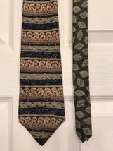 TOMMY HILFIGER Men's Silk Tie Horizontal Stripes Geometric Patterned Necktie - $10.88
