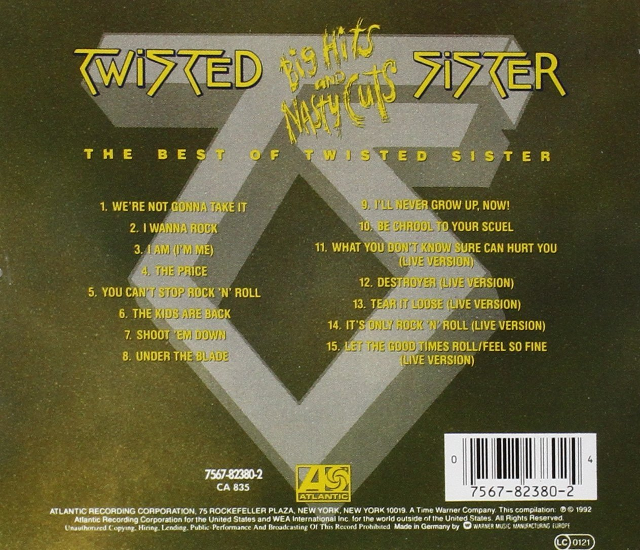 Big Hits & Nasty Cuts: Best of Import Twisted Sister