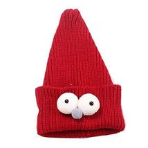 Cute Insect Children Hand-knitted Resile Winter Hat Baby Soft Warm Cap,Wine red