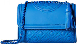 Tory Burch Fleming Matte Small Convertible Shoulder Bag Blue - $349.00
