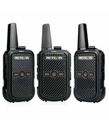 Retevis RT15 Mini Walkie Talkie FRS Rechargeable 16 Channel Lock Vox Han... - $37.92
