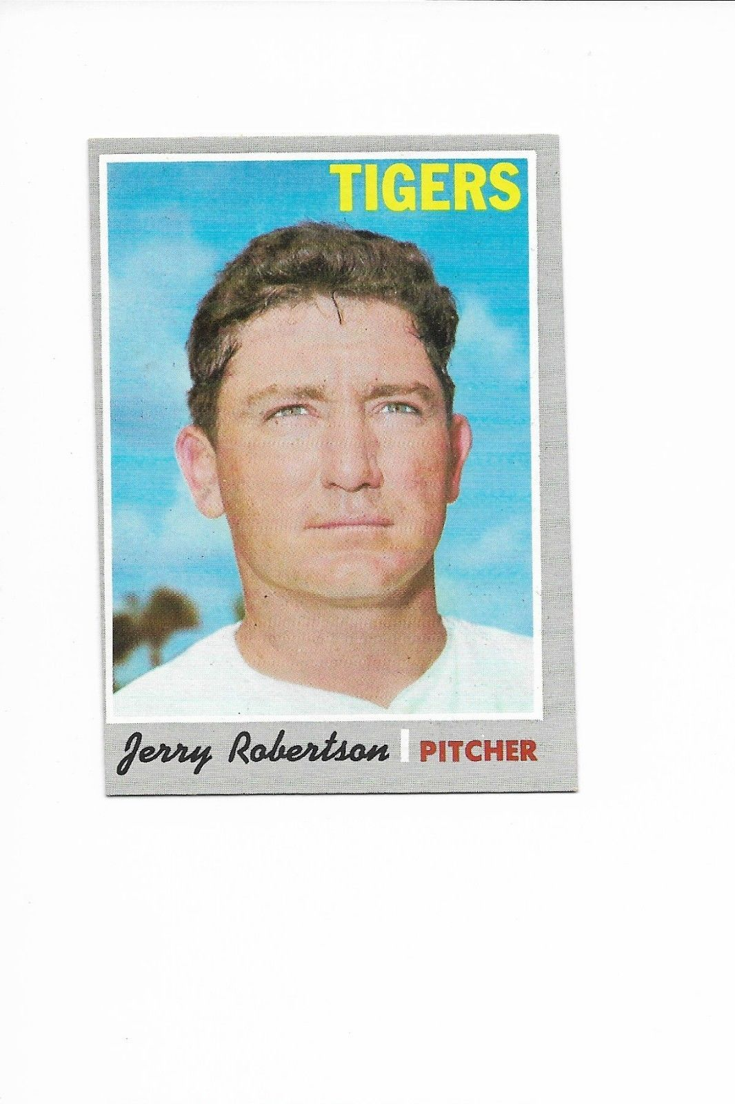 1970 Topps High Number #661 Jerry Robertson, Detroit Tigers
