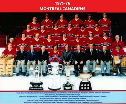 MONTREAL CANADIENS 1975-76 8X10 TEAM PHOTO HOCKEY NHL PICTURE STANLEY CU... - $3.95