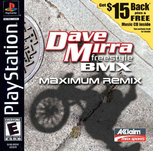 Dave Mirra Freestyle BMX Maximum Remix PS1 Great Condition Fast Shipping