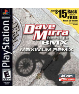 Dave Mirra Freestyle BMX Maximum Remix PS1 Great Condition Fast Shipping - $11.64